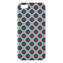Cute Abstract Pattern Background Apple Iphone 5 Premium Hardshell Case by creativemom