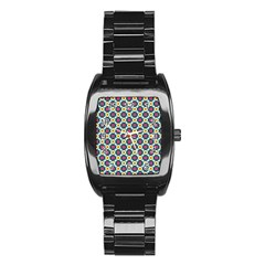 Cute Abstract Pattern Background Stainless Steel Barrel Watch by creativemom