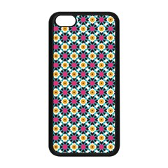 Cute Abstract Pattern Background Apple Iphone 5c Seamless Case (black) by creativemom