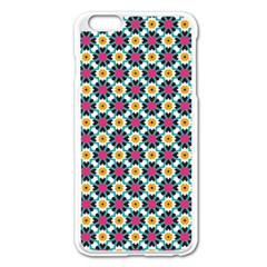 Cute Abstract Pattern Background Apple Iphone 6 Plus Enamel White Case by creativemom