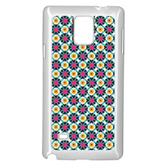Cute Abstract Pattern Background Samsung Galaxy Note 4 Case (white) by creativemom