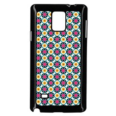 Cute Abstract Pattern Background Samsung Galaxy Note 4 Case (black) by creativemom