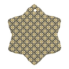 Cute Pretty Elegant Pattern Snowflake Ornament (2 Side)