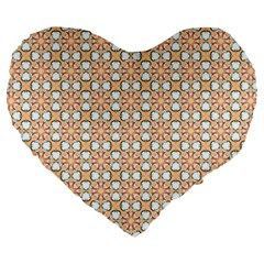 Cute Pretty Elegant Pattern Large 19  Premium Heart Shape Cushions by creativemom