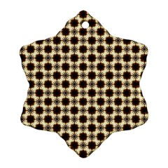 Cute Pretty Elegant Pattern Snowflake Ornament (2 Side) by creativemom