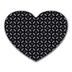 Cute Pretty Elegant Pattern Heart Mousepads by creativemom