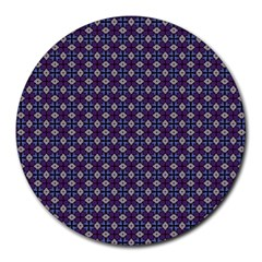 Cute Pretty Elegant Pattern Round Mousepads by creativemom