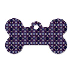 Cute Pretty Elegant Pattern Dog Tag Bone (Two Sides) by creativemom