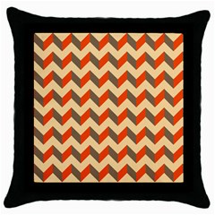 Modern Retro Chevron Patchwork Pattern  Throw Pillow Cases (black)
