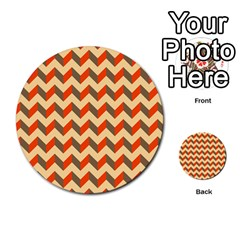 Modern Retro Chevron Patchwork Pattern  Multi Purpose Cards (round)  by creativemom