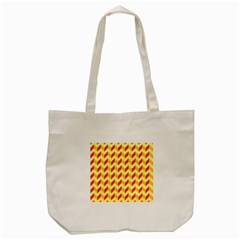 Modern Retro Chevron Patchwork Pattern  Tote Bag (cream)  by creativemom