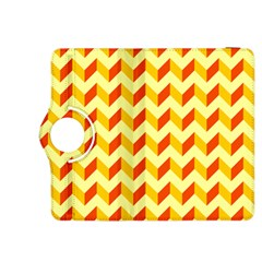 Modern Retro Chevron Patchwork Pattern  Kindle Fire Hdx 8 9  Flip 360 Case by creativemom