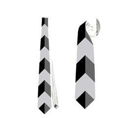 Modern Retro Chevron Patchwork Pattern  Neckties (One Side)  by creativemom
