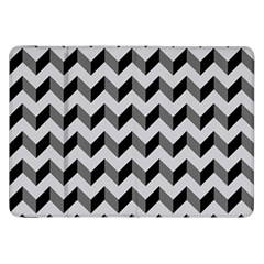 Modern Retro Chevron Patchwork Pattern  Samsung Galaxy Tab 8.9  P7300 Flip Case by creativemom