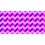 Modern Retro Chevron Patchwork Pattern Laugh Live Love 3D Greeting Card (8x4)  Back