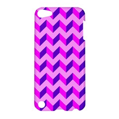 Modern Retro Chevron Patchwork Pattern Apple Ipod Touch 5 Hardshell Case by creativemom