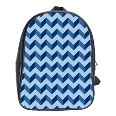 Modern Retro Chevron Patchwork Pattern School Bags(Large)  by creativemom