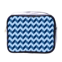 Modern Retro Chevron Patchwork Pattern Mini Toiletries Bags by creativemom