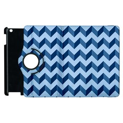 Modern Retro Chevron Patchwork Pattern Apple Ipad 2 Flip 360 Case by creativemom