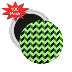 Modern Retro Chevron Patchwork Pattern 2 25  Magnets (100 Pack)  by creativemom