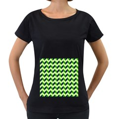 Modern Retro Chevron Patchwork Pattern Women s Loose-Fit T-Shirt (Black) by creativemom