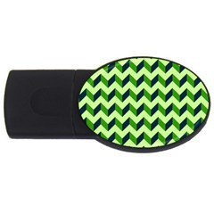 Modern Retro Chevron Patchwork Pattern Usb Flash Drive Oval (4 Gb)  by creativemom