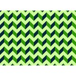 Modern Retro Chevron Patchwork Pattern LOVE Bottom 3D Greeting Card (7x5)  Back