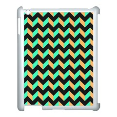 Modern Retro Chevron Patchwork Pattern Apple Ipad 3/4 Case (white) by creativemom