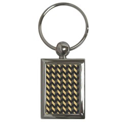 Modern Retro Chevron Patchwork Pattern Key Chains (rectangle)  by creativemom