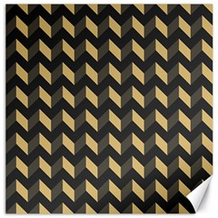 Modern Retro Chevron Patchwork Pattern Canvas 16  X 16