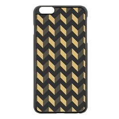 Modern Retro Chevron Patchwork Pattern Apple Iphone 6 Plus Black Enamel Case by creativemom