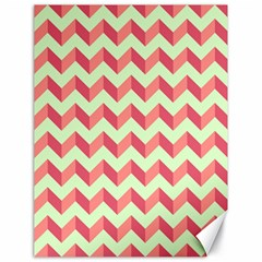 Modern Retro Chevron Patchwork Pattern Canvas 18  X 24   by creativemom