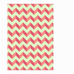 Modern Retro Chevron Patchwork Pattern Small Garden Flag (two Sides) by creativemom