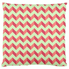 Modern Retro Chevron Patchwork Pattern Large Flano Cushion Cases (two Sides)  by creativemom