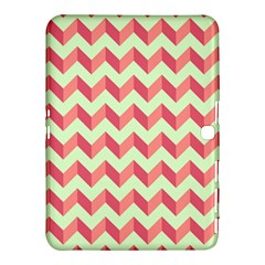 Modern Retro Chevron Patchwork Pattern Samsung Galaxy Tab 4 (10.1 ) Hardshell Case  by creativemom