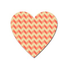 Modern Retro Chevron Patchwork Pattern Heart Magnet by creativemom