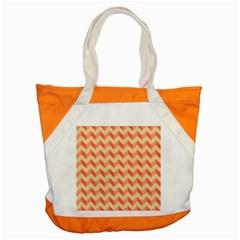 Modern Retro Chevron Patchwork Pattern Accent Tote Bag  by creativemom