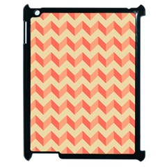 Modern Retro Chevron Patchwork Pattern Apple iPad 2 Case (Black) by creativemom