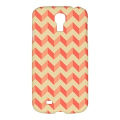 Modern Retro Chevron Patchwork Pattern Samsung Galaxy S4 I9500/i9505 Hardshell Case by creativemom