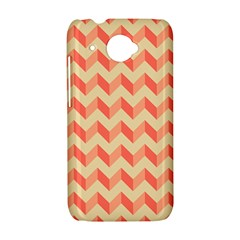 Modern Retro Chevron Patchwork Pattern HTC Desire 601 Hardshell Case by creativemom