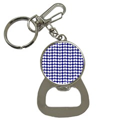 Blue And White Leaf Pattern Bottle Opener Key Chains by creativemom