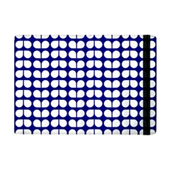 Blue And White Leaf Pattern Apple Ipad Mini Flip Case by creativemom