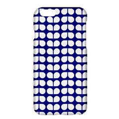 Blue And White Leaf Pattern Apple Iphone 6 Plus Hardshell Case by creativemom