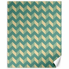 Modern Retro Chevron Patchwork Pattern Canvas 11  X 14   by creativemom