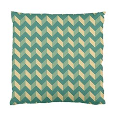 Modern Retro Chevron Patchwork Pattern Standard Cushion Case (one Side)  by creativemom