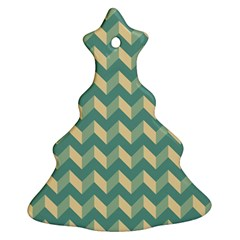 Modern Retro Chevron Patchwork Pattern Ornament (christmas Tree)