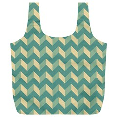 Modern Retro Chevron Patchwork Pattern Full Print Recycle Bags (l)  by creativemom