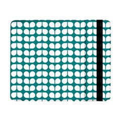 Teal And White Leaf Pattern Samsung Galaxy Tab Pro 8 4  Flip Case by creativemom