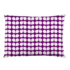 Purple And White Leaf Pattern Pillow Cases by creativemom