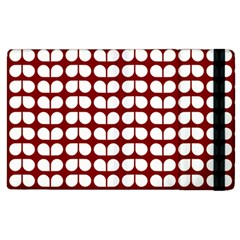 Red And White Leaf Pattern Apple Ipad 3/4 Flip Case by creativemom